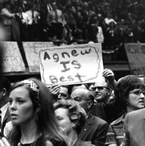 """Agnew is Best"" sign at Spiro Agnew rally"