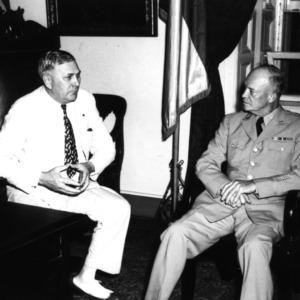 R. Gregg Cherry with General Dwight Eisenhower