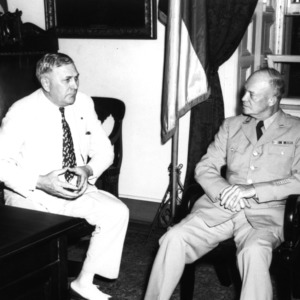 Governor R. Gregg Cherry and General Dwight D. Eisenhower