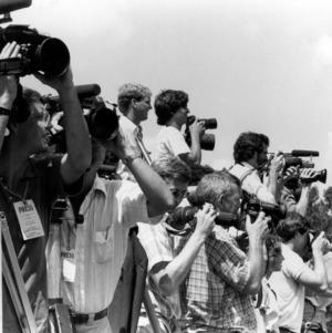 Press at Ronald Reagan Visit