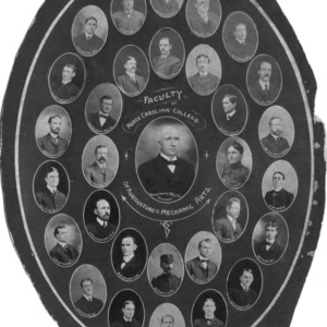 Faculty of North Carolina College of Agriculture and Mechanical Arts portraits, 1902