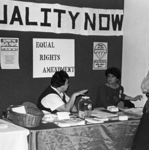 Equality Now booth for the Equal Rights Amendment