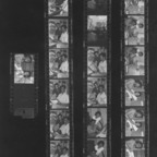 Film strip of students studying