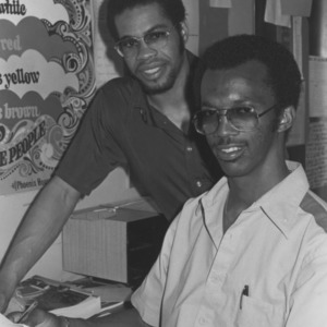 Two students in office