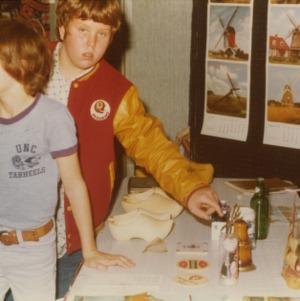 Children at Netherlands booth at international fair