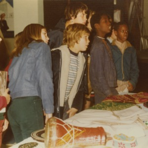 Children at international fair