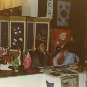 Women at Korea booth at international fair
