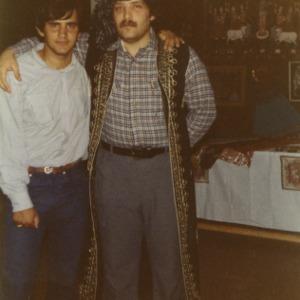 Two men at international fair