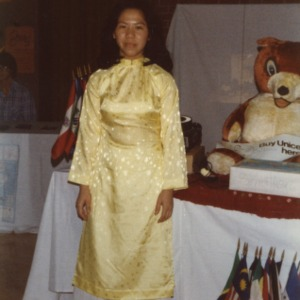 Woman at international fair