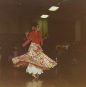 Dancer at international fair