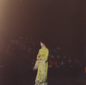 Woman performing at event