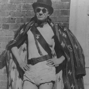 Student in silly costume, circa 1921
