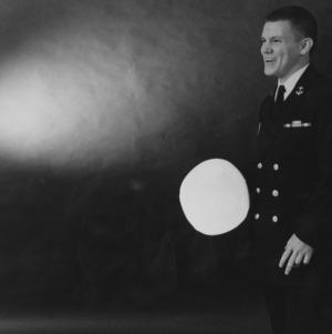 Naval ROTC member Steve Maygar portrait
