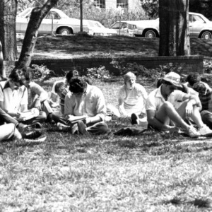Outdoor class on campus