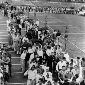 Lines for student registration