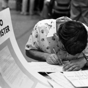 Student registering for classes
