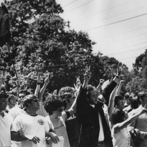 Student march in response to Nixon's Cambodia Campaign and Kent State Massacre
