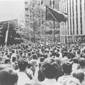 Students demonstrating against Spiro Agnew