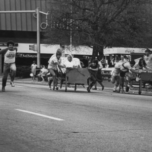 Bed race relay