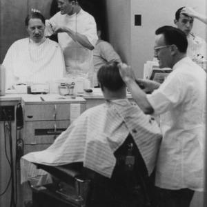 People at barbershop