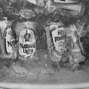 Beers in ice bucket