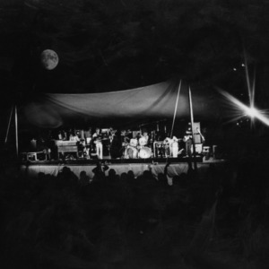 All-Campus outdoor concert at night