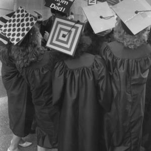 Design Graduates at commencement, 1988
