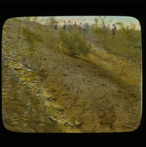 (no. 5) Watauga County, North Carolina - Healing of Gullies with straw and black locust - same as 4 (no. 6) and 5 (no. 7) - Hand Colored Slides, Numbered Series