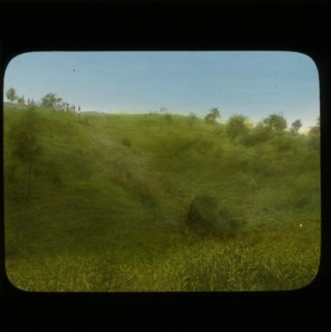 (no. 7) Watauga County, North Carolina - same as 3 (no. 5) and 4 (no. 6) after 2 years treatment with phos. lime, grass, trees - Hand Colored Slides, Numbered Series