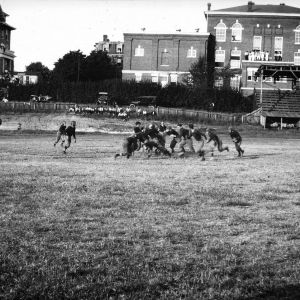 Football practice, circa 1916 - NCSU Campus