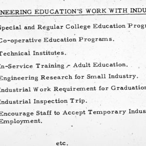 Engineering Education's Work with Industry