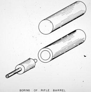 Boring of rifle barrel