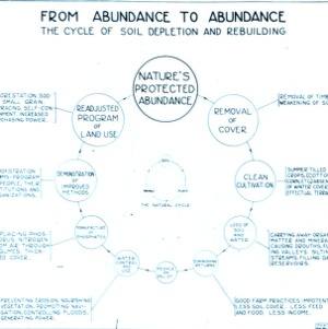 Chart - from abundance to abundance - the cycle of soil depletion and rebuilding