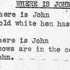 """Where Is John?"" - 4-H Club song lyrics"