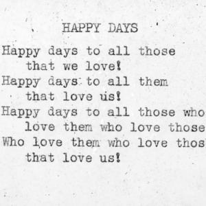 """Happy Days"" - 4-H Club song lyrics"