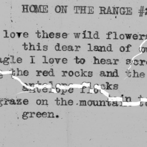 """Home On The Range""  part 2 -4-H Club song lyrics"