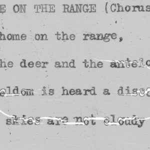 """Home On The Range"" (chorus) - 4-H Club song lyrics"