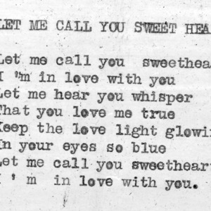 """Let Me Call You Sweetheart"" - 4-H Club song lyrics"