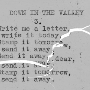 """Down In The Valley"" part 3 - 4-H Club song lyrics"