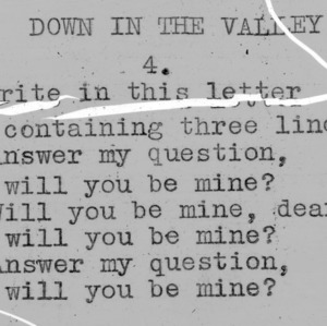 """Down In The Valley"" part 4 - 4-H Club song lyrics"