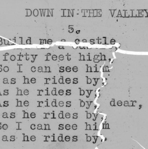 "'Down In The Valley "" part 5 - 4-H Club song lyrics"