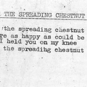 """Under The Spreading Chestnut Tree"" - 4-H Club song lyrics"