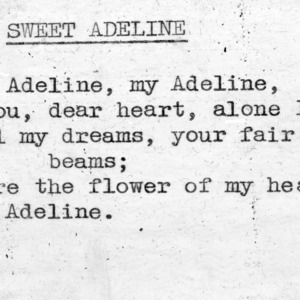 """Sweet Adeline"" - 4-H Club song lyrics"