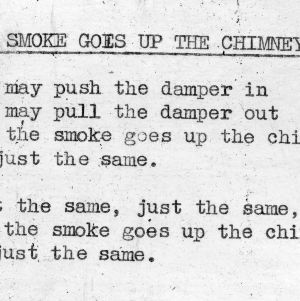 """The Smoke Goes Up The Chimney"" - 4-H Club song lyrics"