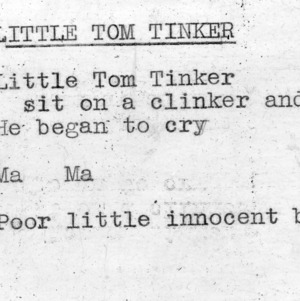"""Little Tom Tinker"" - 4-H Club song lyrics"