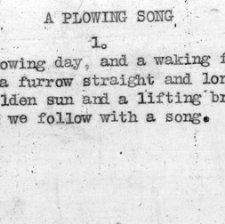 """A Plowing Song"" part 1 - 4-H Club song lyrics"