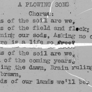 """A Plowing Song"" - 4-H Club song lyrics"