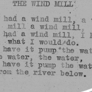 """The Windmill""  - 4-H Club song lyrics"