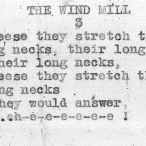 """The Windmill"" part  3 - 4-H Club song lyrics"