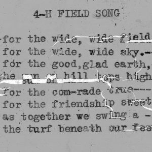 """4-H Field Song"" - 4-H Club song lyrics"